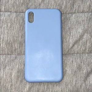 Blue IPhone XS Max silicone case